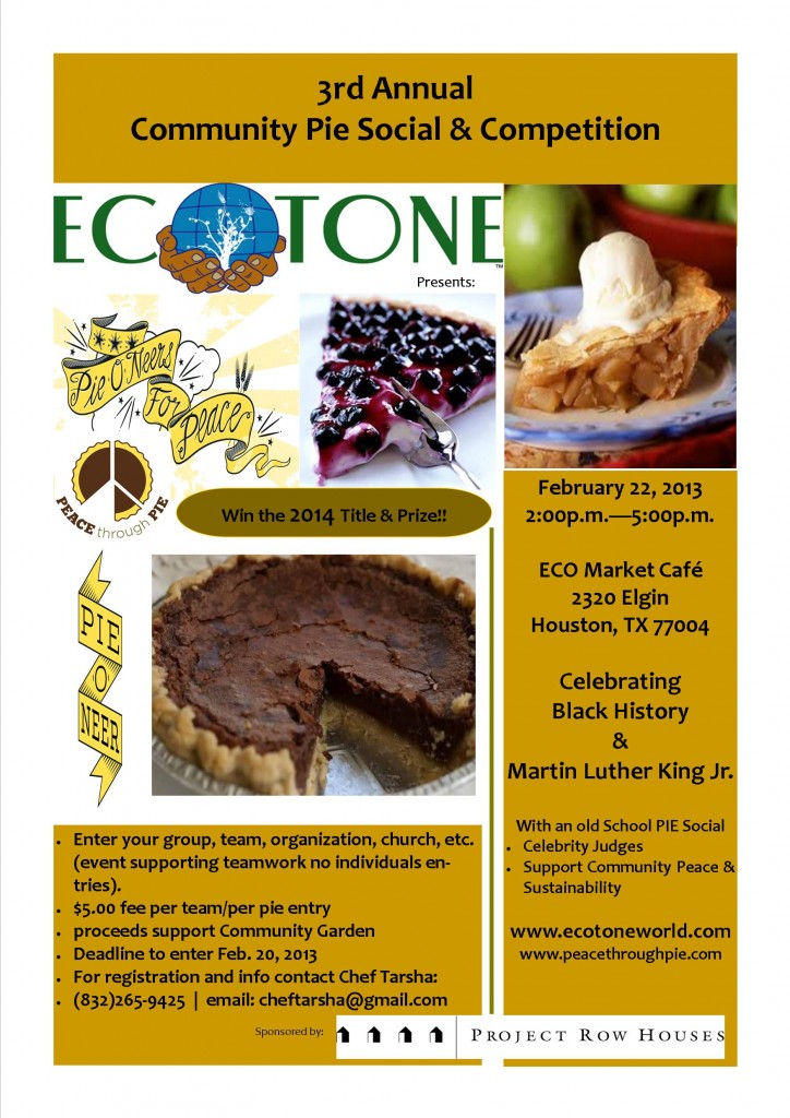 ECO Pie Social 2014 Poster