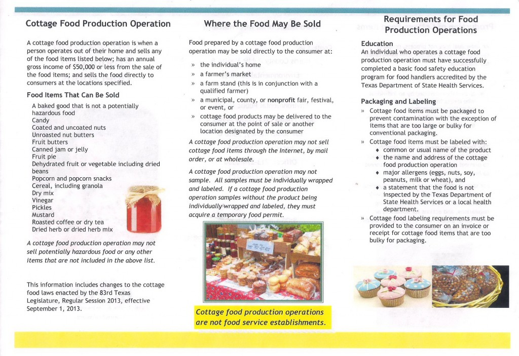 Cottage Food Production Guidline 2